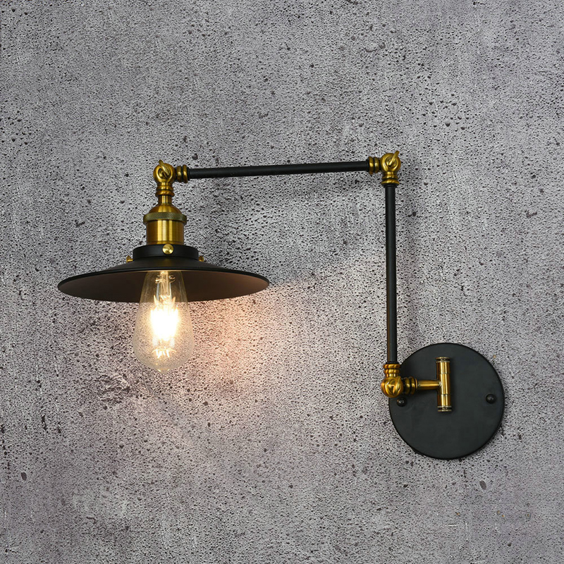 Vintage Wall Light Bedroom Bedside Retro Iron American Style LED E27 Edison Hallway Coffee Restaurant Black Vintage Wall LampVintage Wall Light Bedroom Bedside Retro Iron American Style LED E27 Edison Hallway Coffee Restaurant Black Vintage Wall Lamp