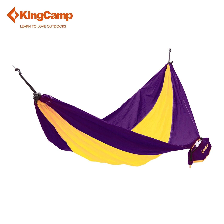 KingCamp Parachute Nylon Hammock for Hiking Trekking Compact and Strong Hammocks for Camping Outdoor Travel Sleeping