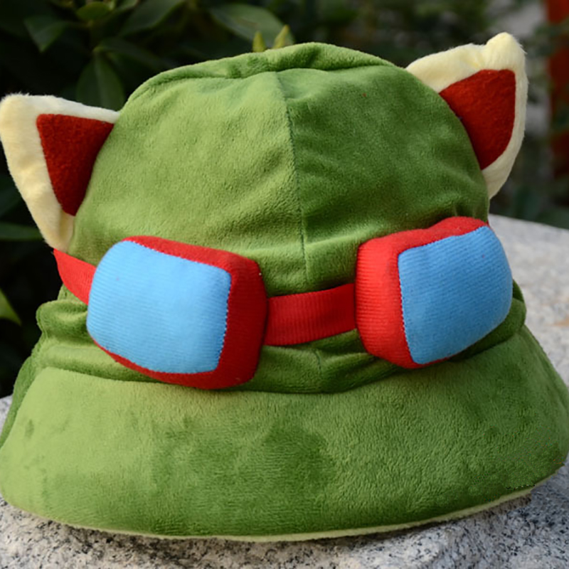 Top Anime One Piece Usopp Teemo Logo Plush Hat Beanie Cap Winter Warmer Cosplay gift NEW Fashion