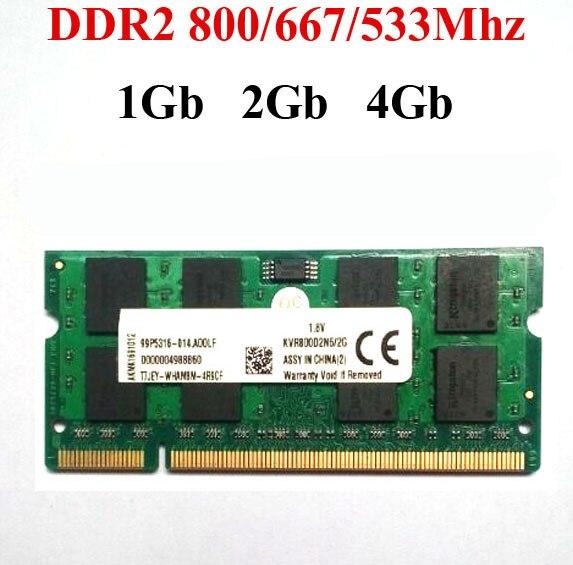 Laptop DDR2 RAM 1gb 2Gb 4Gb DDR2 800Mhz 667Mhz 533Mhz Ddr 2 1G 2G 4G / Sodimm Ddr2 Laptop RAM -- Lifetime Warranty
