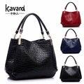 Kavard 2016 bolso de piel de Cocodrilo de lujo española para bolso de las mujeres famosas marca diseñador bolso de marca bolso de mano de Las Señoras sac a principal femme