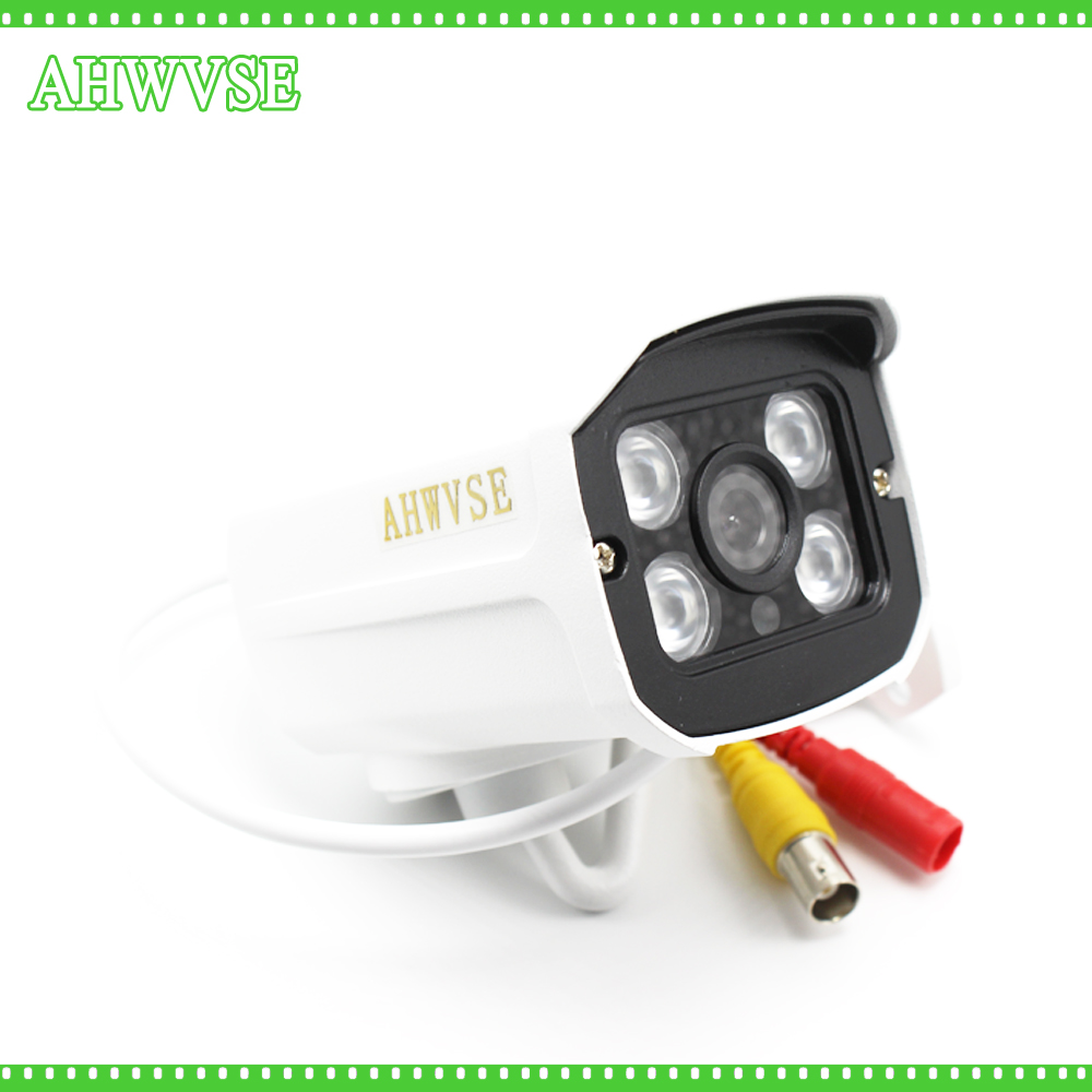 AHWVSE 2017 Security Camera CCTV 4PCS Array LED Waterproof Outdoor Surveillance AHD Camera FULL HD 1080P 2MP