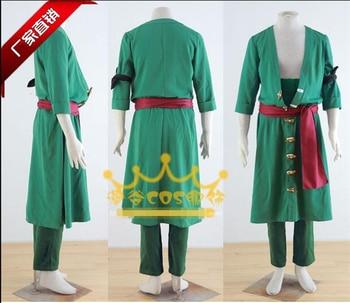 ONE PIECE FILM GOLD Roronoa Zoro Green full set Cosplay Costume Custom made Free Shipping