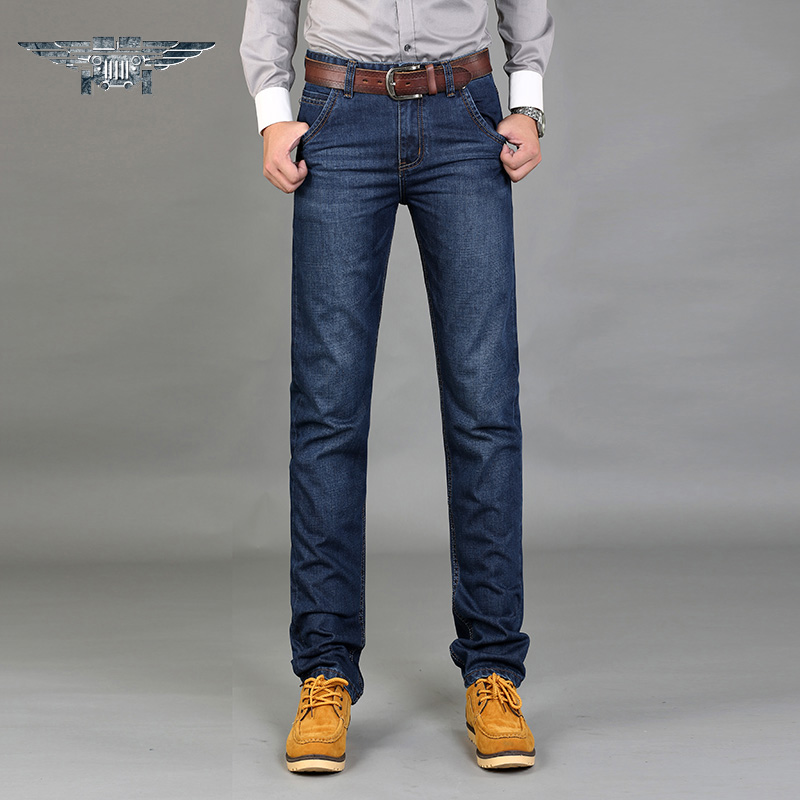 Hot market The New 2016 Jeans Men's Business Jeans Breathable Loose Water Straight Canister JP8006 # the vietnamese market cookbook