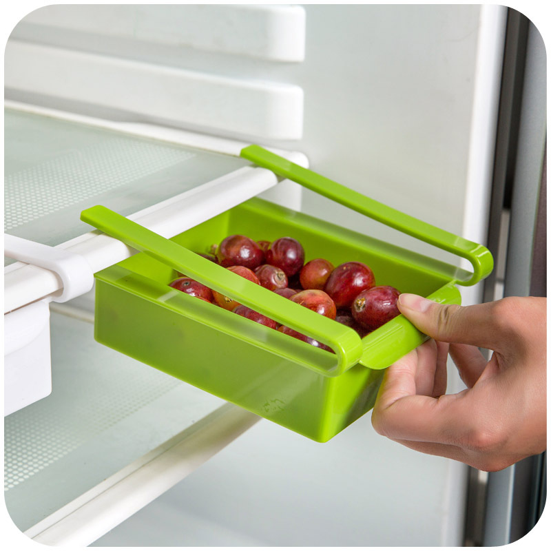 Us 7 22 14 Off Storage Rack Fridge Freezer Shelf Holder Eco Friendly Multifunction Wall Of Slide Kitchen Refrigerator Pull Out Drawer Organizer In