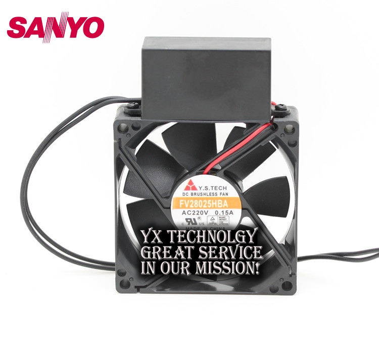 все цены на  SANYO  New FV28025HBA 8025 220V 0.15A AC condenser fan with fan for Wonsan 80*80*25mm  онлайн