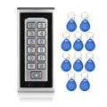 RFID Door Control Locks ID Card Reader Metal Keypad Access Control System Digital Locks with doorbell function+10 key fobs-K81
