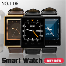 NO.1 D6 1.63 inch 3G Smartwatch Phone Android 5.1 MTK6580 Quad Core 1.3GHz 1GB RAM GPS WiFi Bluetooth 4.0 Heart Rate Monitoring
