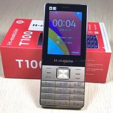 2,8 «экран двойной сим большой звук мобильного телефона испанский Русский язык Русский Клавиатура H-Mobile T100 T200