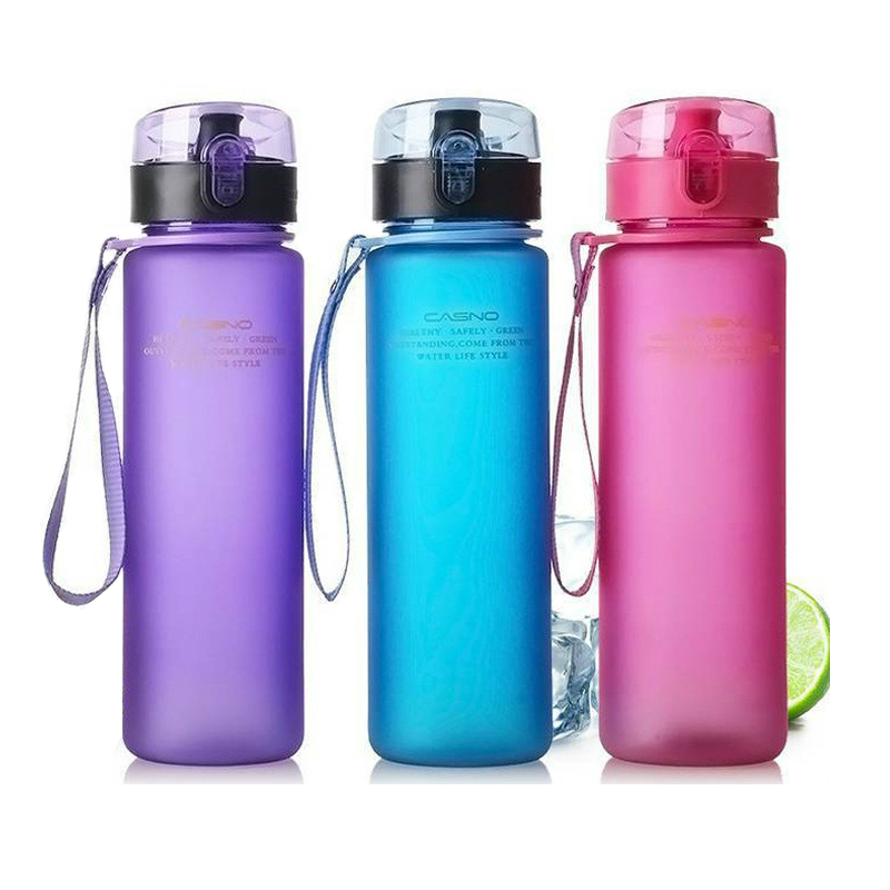 400ml 560ml Bicycle Water Bottle BPA Free Leak Proof Sports Water Bottle High Quality Tour Hiking Portable Bottles eyki h5018 high quality leak proof bottle w filter strap gray 400ml
