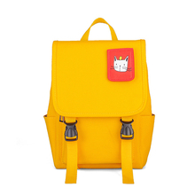 New Canvas Schoolbag Solid Color Children Backpack Kindergarten School Bag Primary Student Bookbag Girls Boys Kids Cute Backbags