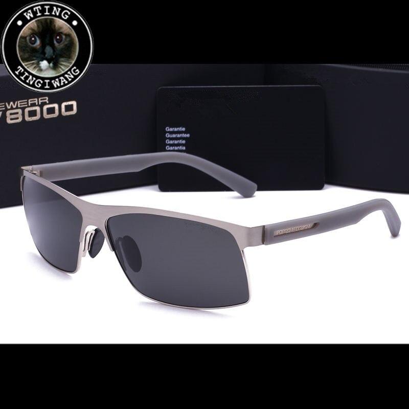 New aleación de aluminio y magnesio gafas de sol polarizadas de los hombres mans