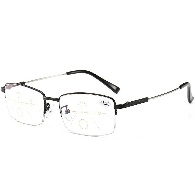 b51976c1a Progressiva multi-focal da lente óculos de leitura armação de óculos de  metal de transição