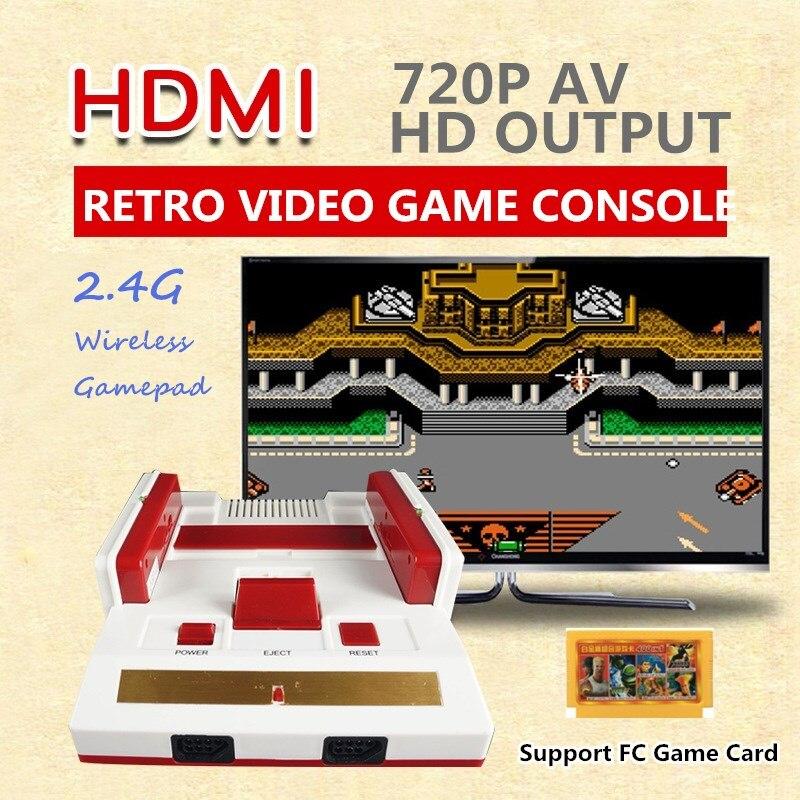 8 bits 2.4G Mini Console de jeu HDMI AV rétro Console de jeu vidéo intégré 88 jeux classiques portable HD TV famille lecteur de jeu vidéo