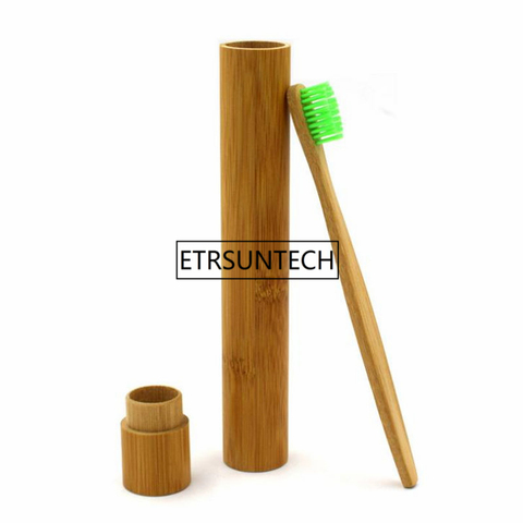 50 pcs lote feitas a mao tubo de bambu escova de dentes escova de dentes