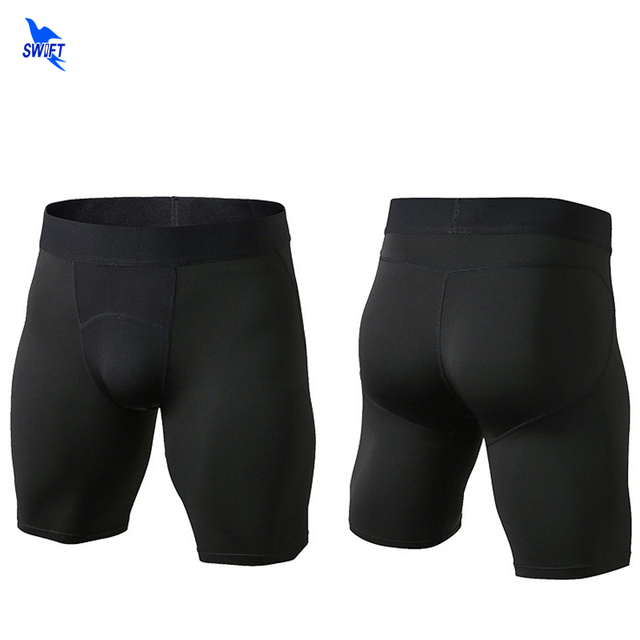 dc697e2f56 Summer Running Compression Tights Shorts Men GYM fitness Boxer Panties  Quick-drying Stretch Football Trousers Jogging MMA Trunks