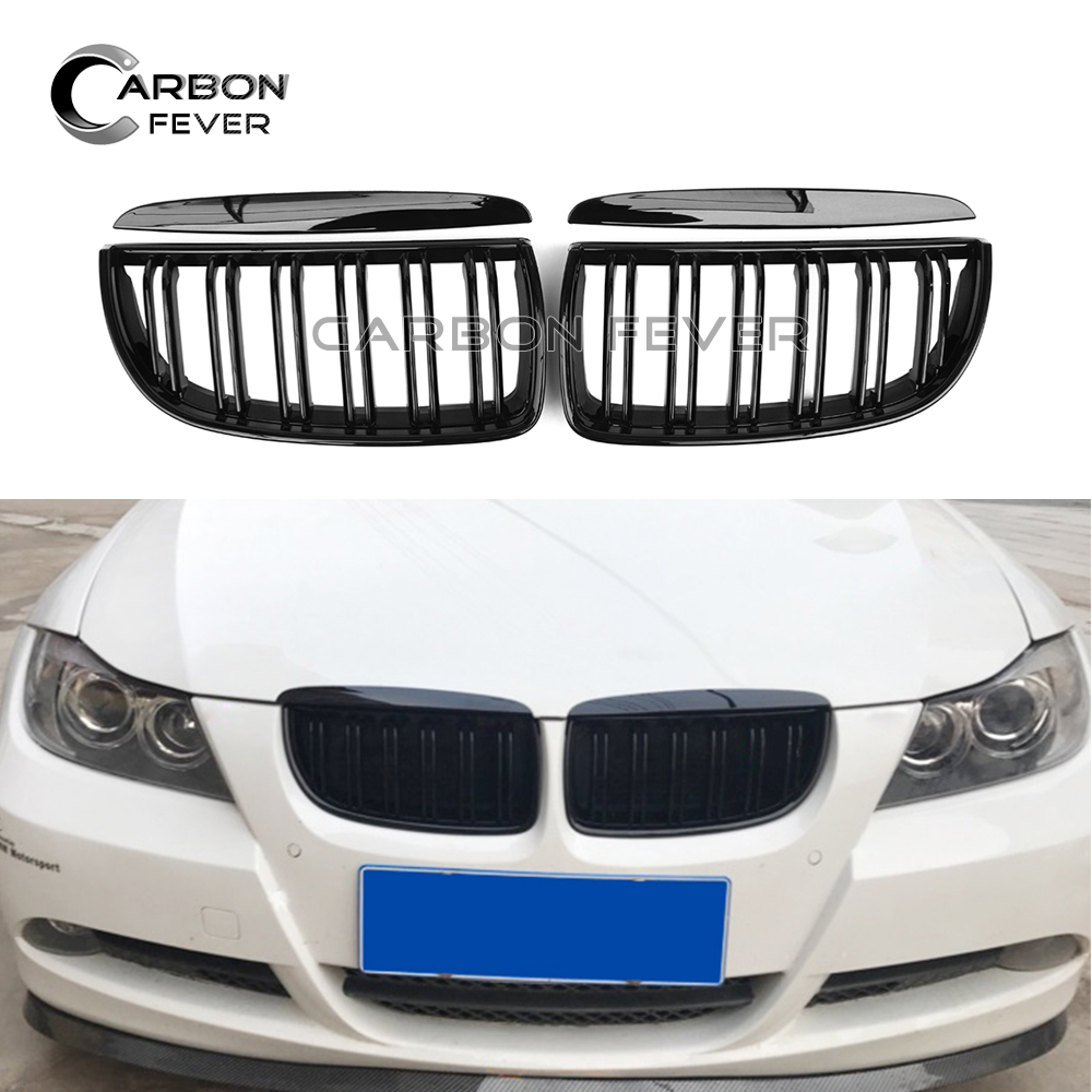 E90 Front Bumper Kidney Grille For BMW Sedan E90 E91 3 Series 2005 2007 Pre facelift