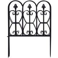 Goplus 10FT x 32in Folding Decorative Garden Fence Set of 5 Coated Metal Panels New OP3643