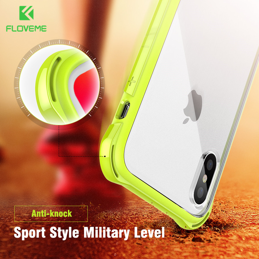 FLOVEME Anti-knock Case for iPhone X , Shockproof Corner Bumper Designed Mobile...
