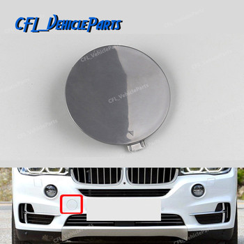 Left Side Front Bumper Tow Hook Cover Tow Eye Cap Unpainted 51117378591 For BMW F15 X5 2013 2014 image