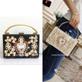 Luxury Designer Multi Color Royal Baroque Rhinestone Hand bag Runway Lady bag Purse Celebrity Love
