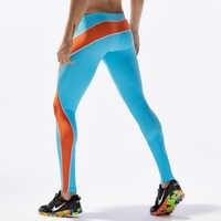 Mallas para correr para Hombre, Mallas deportivas de entrenamiento, pantalones de compresión de Patchwork, ropa azul cielo para gimnasio, Mallas sexis para Hombre, Mallas S-XL Hombre