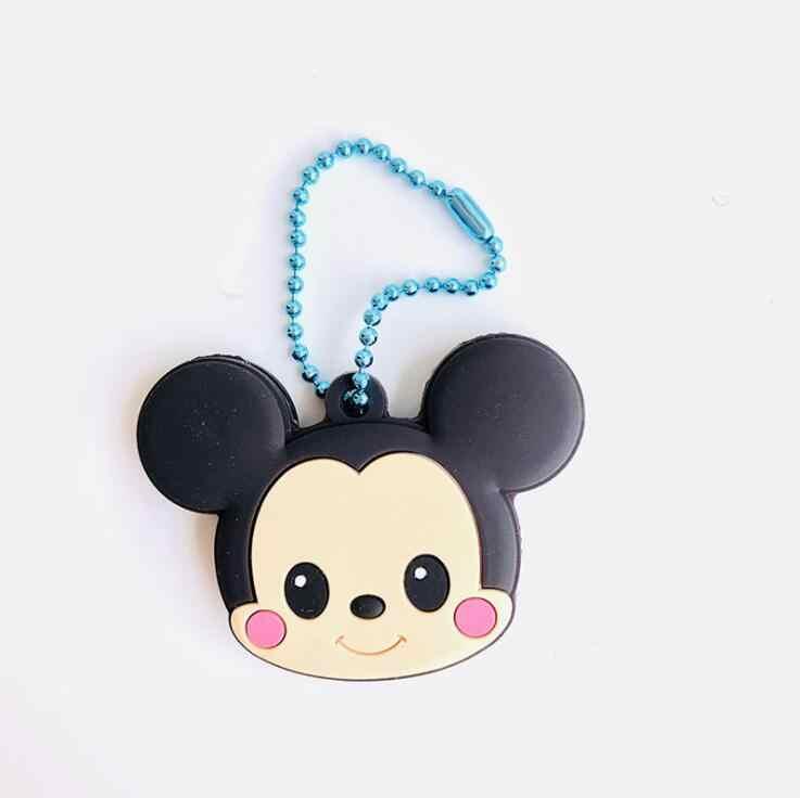 Dos desenhos animados Anime Bonito olá kitty Tampa chave tampa de Silicone Minne Mickey Ponto Urso Keychain Presente Das Mulheres Chaveiro