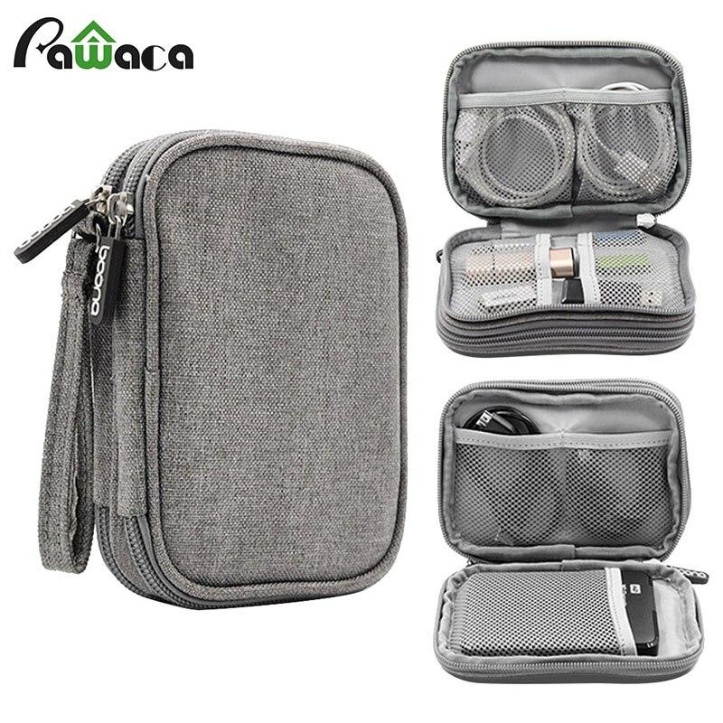 Reise Elektronische Zubehör Kabel Organizer Tasche Tragbare Fall SD karten-Sticks drähte kopfhörer doppel schicht lagerung box