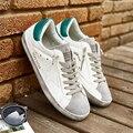 Nueva Moda Famosa Marca de Lujo de Italia Zapatos Casuales de Cuero Genuino Hombres de Oro Sucio Todo Deporte Estrella Zapatos Chaussure Zapatos de Los Pares