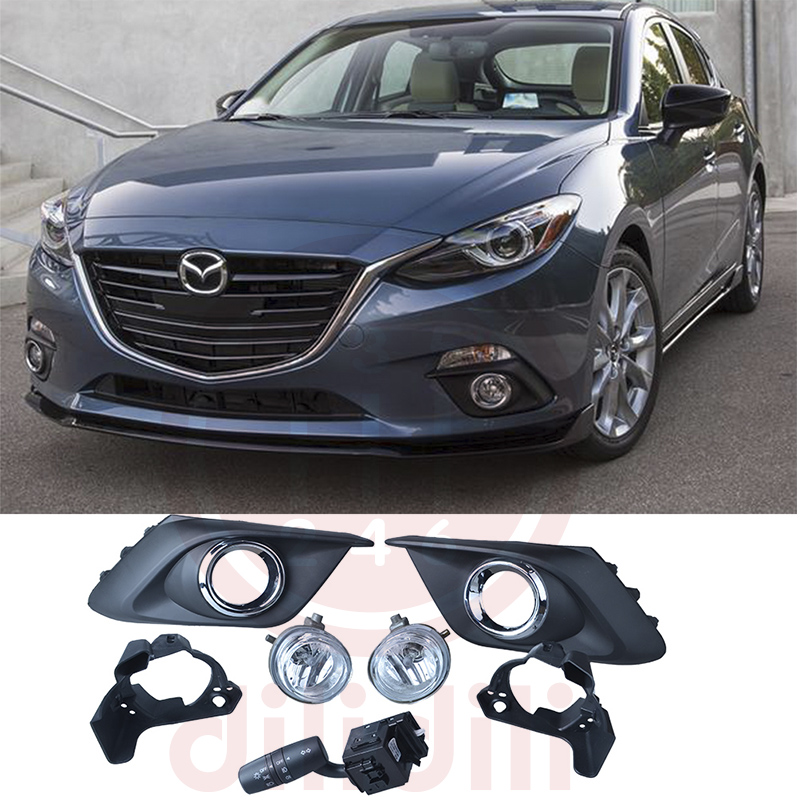 OEM Fog Lights Lamp Kit for Mazda 3 mazda3 2014 2015 2016 [bainily]50pcs large particles numbers train building blocks bricks educational baby city toys