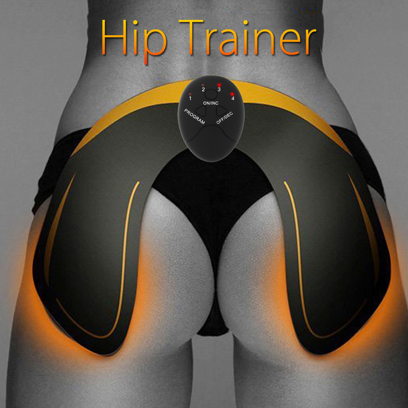 купить 2018 EMS Hip Trainer Muscle Stimulator ABS Fitness Buttocks Butt Lifting Buttock Toner Trainer Slimming Massager Unisex withbox недорого