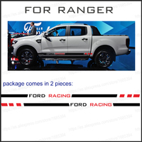 2 PC racing Gradient side stripe graphic Vinyl sticker for Ford ranger 2012 2014 2015 2017 sticker
