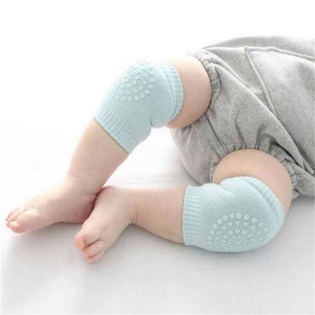 Baby Infant Born Toddler Kids Soft Anti-slip Safety Crawling Elbow Cushion Knee Pad Semi-combed cotton terry dispensing 1Pair