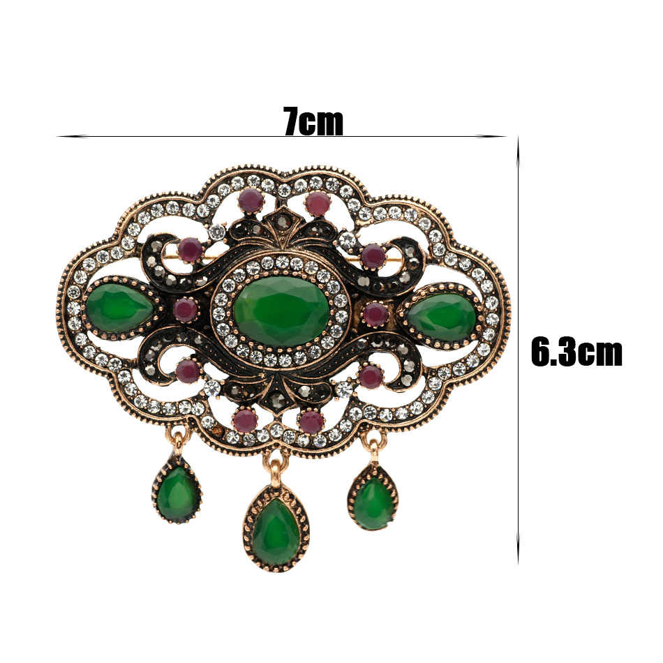 ... Elegent Turkish Round Hollow Flower Antique Brooch Women Ethnic Vintage  Corsage Festival Jewerly Indian Bohemia Hijab aff44126a6b9