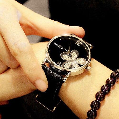 YAZOLE Hodinky Lucky Flower Quartz Watch 1