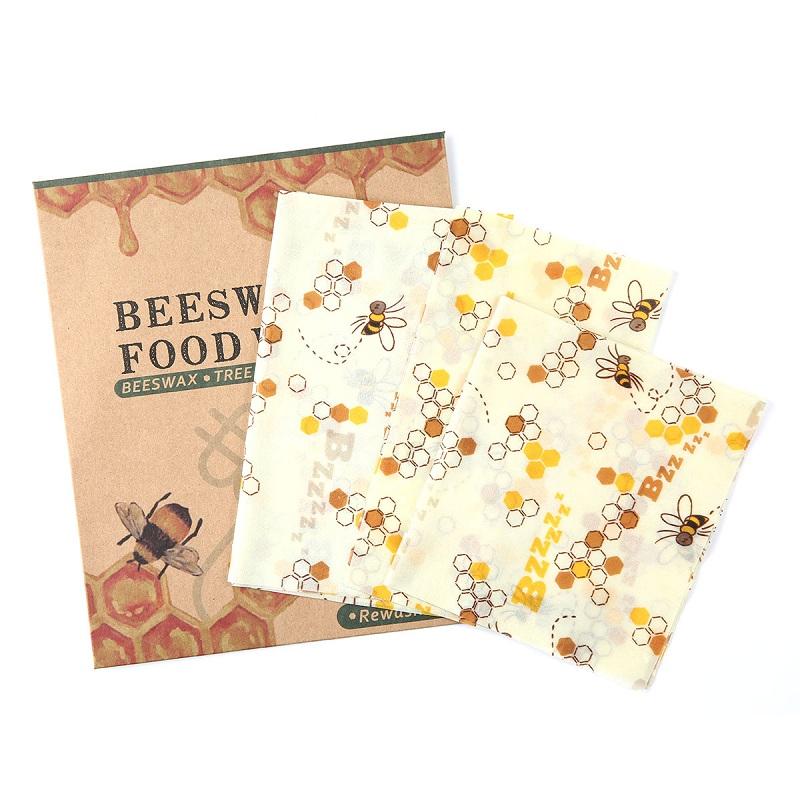 Reutilizable envoltura de alimento de cera de abejas 3