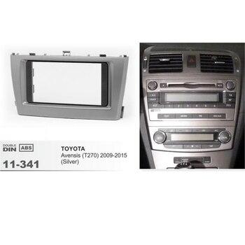 11-341 Trim Surround Adapter Auto Stereo Radio fascia voor TOYOTA Avensis 2011 + Auto Dashboard Frame Kit