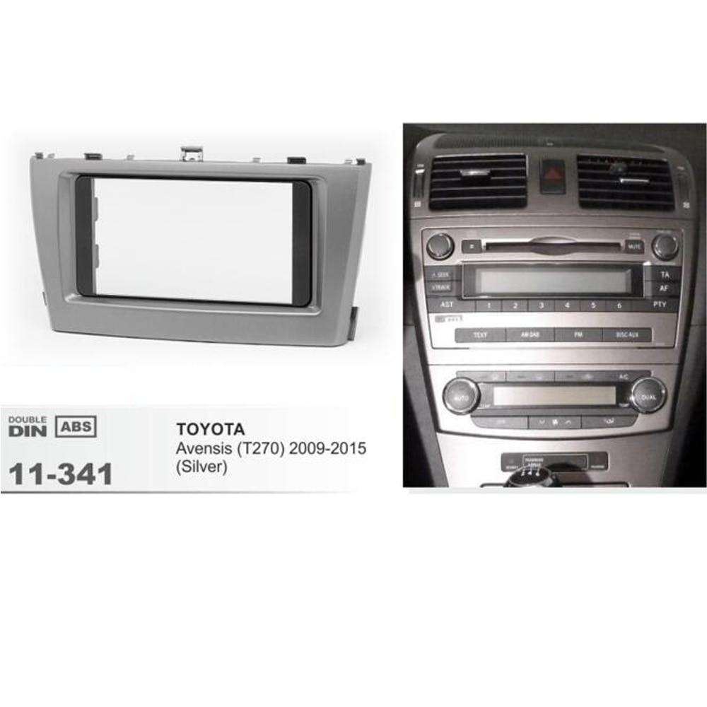 11-341 Trim Surround Adaptor Car Stereo Radio fascia for TOYOTA Avensis 2011+ Car Dashboard Frame Kit car radio dvd fascia frame installation dash mount kit stereo install for mitsubishi mirage 2012 space star 2013