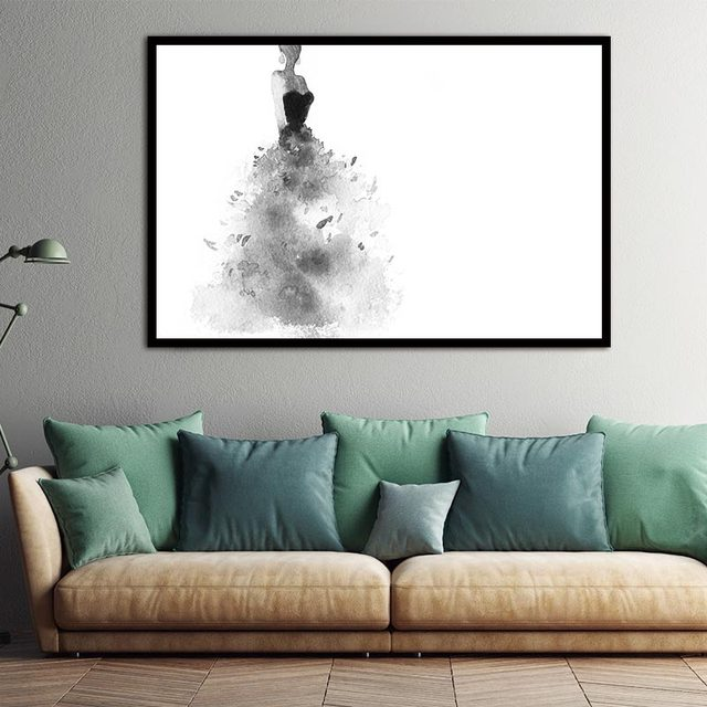 Elegant Girl Pictures Watercolor Paintings Abstract Wall Art Beauty ...