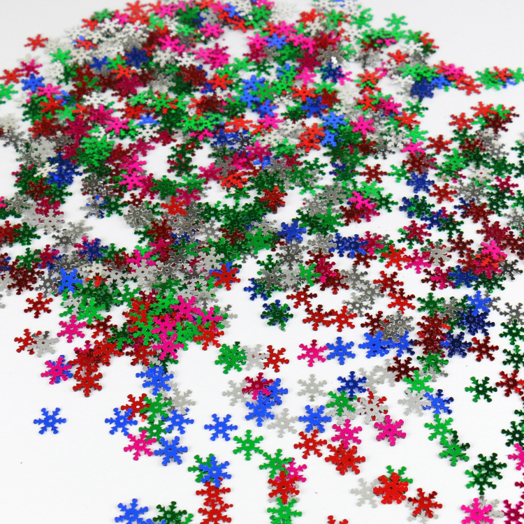 100pcs 58mm christmas snowflake sequins sewing scrapbooking crafts christmas decoration ornament free shipping - Wholesale Christmas Decorations