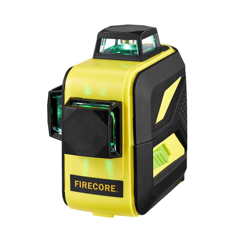 F93T-XR/F93T-XG 12 lignes batterie au Lithium 3D niveau Laser rouge/vert + récepteur + support magnétique + trépied 3M