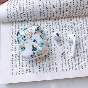 Image 5 - Dla przypadku AirPods kwiat przezroczysty przezroczysty twardy plastik bezprzewodowe etui na słuchawki Bluetooth dla Apple Airpods 2 okładka moda Funda