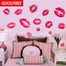 Decorate red lip mouth art wall sticker decoration Decals mural painting Removable Decor Wallpaper LF-1816