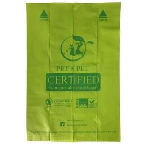 Image 3 - Biodegradable Dog Poop Bags Cornstarch Earth Friendly Zero Waste 17 Micron ASTM D6400 Cat Waste Bag пакеты для собак