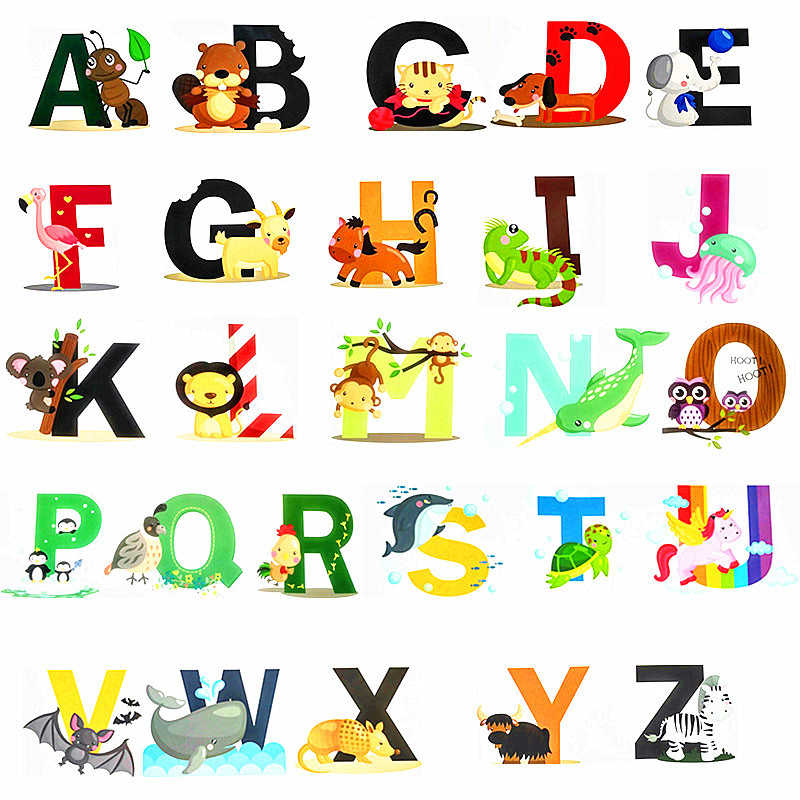 A Z English Letters Wall Sticker