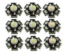 50 pz/lotto Ad Alta Potenza 1 W 3 W Freddo/Bianco Caldo 3500 K 6500 K 10000 K Diodi LED Chip di Lampadina di Cristallo di Luce Con 20mm AL Stella Base