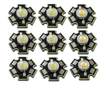50pcs/lot High Power 1W 3W Cool / Warm White 3500K 6500K 10000K LED Bulb Chip Crystal Diodes Light With 20mm AL Star Base