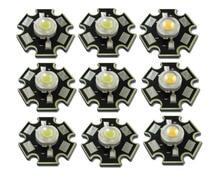 Lote de 50 unidades de bombilla LED de alta potencia, 1W, 3W, blanco frío/cálido, 3500K, 6500K, 10000K, diodos de luz de cristal con Base de estrella de 20mm AL
