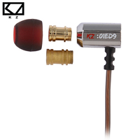 Brand Original KZ ED9 Earphone Earbuds 2 Color Headset HIFI Stereo Super Bass With Microphone For