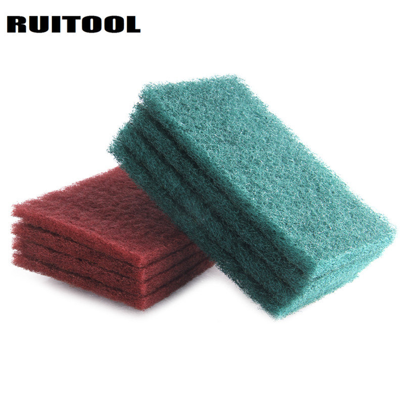200*120mm Cleaning Polishing Pad Nylon Abrasive Brush For Rust Polishing Cleaning Cloth Abrasive Tools 4pcs